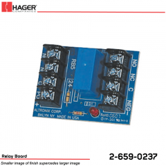 Hager 24VDC 5amp Relay Board Stock No 162697