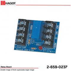Hager 24VDC 5amp Relay Board Stock No 162697