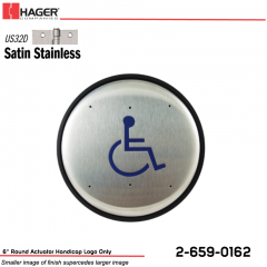 Hager 6 in. Round Actuator Handicap Logo Only Stock No 162699