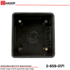 Hager Surface Mount Box for 6 in. Square Actuator Stock No 162709