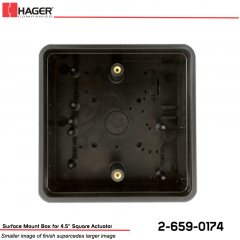 Hager Surface Mount Box for 4.5 in. Square Actuator Stock No 162712
