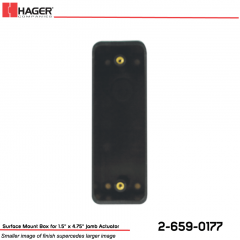 Hager Surface Mount Box for Jamb Actuator Stock No 162715