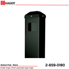 Hager Bollard Post for Round/Square Actuator Black Stock No 162720
