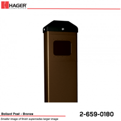 Hager Bollard Post for Round/Square Actuator Bronze Stock No 162724