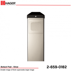 Hager Bollard Post for Round/Square Actuator Silver Stock No 162725