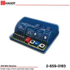 Hager 433 MHz Receiver Stock No 162726