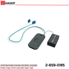 Hager 9-Volt Hard Wired to Actuator One Button Transmitter Stock No 162728