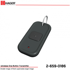 Hager Wireless One-Button Transmitter Stock No 162729