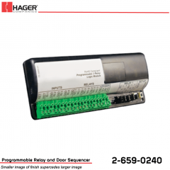 Hager Programmable Relay and Door Sequencer Stock No 162730