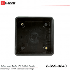 Hager Surface Mount Box for 4.75 in. Vestibule Actuator Stock No 162742