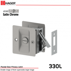 Hager 330L Pocket Door Privacy Latch US26D Stock No 086835