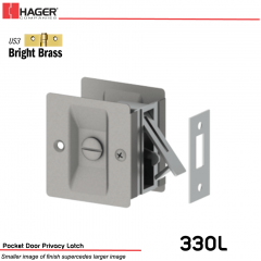 Hager 330L Pocket Door Privacy Latch US3 Stock No 086839