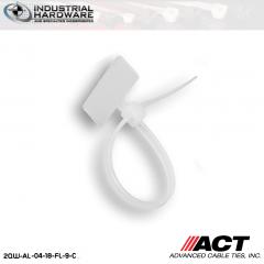 """ACT 2QW-AL-04-18-FL-9-C 4"""" 18lb Flag Natural Ties 100"""