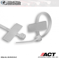 ACT AL-04-18-ID-9-C 4 in. Identification Cable Ties Natural 5000 Pcs/Case