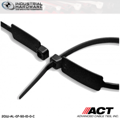 ACT AL-07-50-ID-0-C 7 in. Identification Cable Ties Black 5000 Pcs/Case