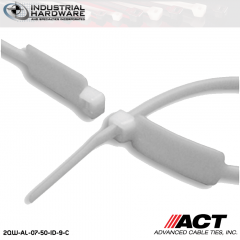 ACT AL-07-50-ID-9-C 7 in. Identification Cable Ties Natural 5000 Pcs/Case