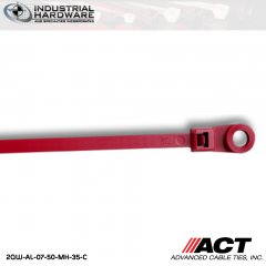 ACT AL-07-50-MH-35-C 7 in. Mounting Hole Impact Resistant Cable Tie Burgundy 5000 Pcs/Case
