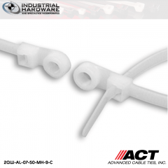 ACT AL-07-50-MH-9-C 7 in. Mounting Hole Cable Ties Natural 5000 Pcs/Case