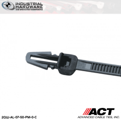 ACT AL-07-50-PM-0-C 7 in. Push Mount Cable Ties Black 5000 Pcs/Case