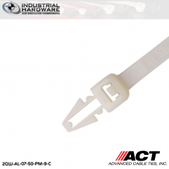 ACT AL-07-50-PM-9-C 7 in. Push Mount Cable Ties Natural 5000 Pcs/Case