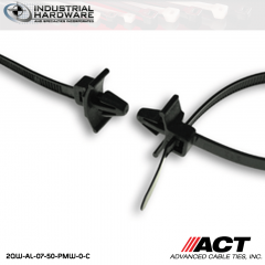 ACT AL-07-50-PMW-0-C 7 in. Push Mount Wing Cable Ties Black 5000 Pcs/Case