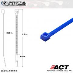 ACT AL-11-50-6-C 11 in. Blue Cable Tie