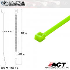 ACT AL-14-120-11-C 14 in. Fluorescent Green Cable Tie