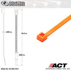 ACT AL-14-120-14-C 14 in. Fluorescent Orange Cable Tie