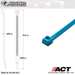 ACT AL-14-120-15-C 14 in. Fluorescent Blue Cable Tie