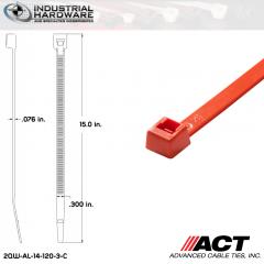 ACT AL-14-120-3-C 14 in. Orange Cable Tie