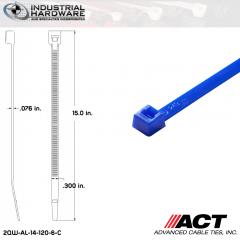 ACT AL-14-120-6-C 14 in. Blue Cable Tie