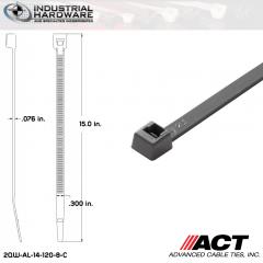 ACT AL-14-120-8-C 14 in. Gray Cable Tie