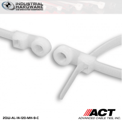 ACT AL-14-120-MH-9-C 14 in. Mounting Hole Cable Ties Natural 2000 Pcs/Case