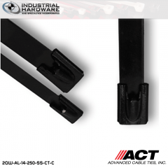 ACT AL-14-250-SS-CT-C 14 in. Stainless Steel Coated Cable Tie 1000 pcs/case