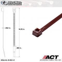 ACT AL-14-50-1-C 14 in. Brown Cable Tie