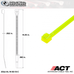 ACT AL-14-50-13-C 14 in. Fluorescent Yellow Cable Tie