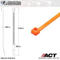 ACT AL-14-50-14-C 14 in. Fluorescent Orange Cable Tie