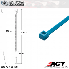 ACT AL-14-50-15-C 14 in. Fluorescent Blue Cable Tie