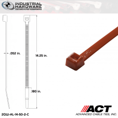 ACT AL-14-50-2-C 14 in. Red Cable Tie