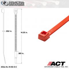 ACT AL-14-50-3-C 14 in. Orange Cable Tie