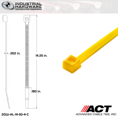 ACT AL-14-50-4-C 14 in. Yellow Cable Tie