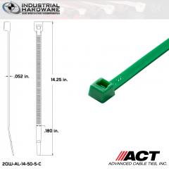 ACT AL-14-50-5-C 14 in. Green Cable Tie