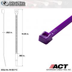 ACT AL-14-50-7-C 14 in. Purple Cable Tie