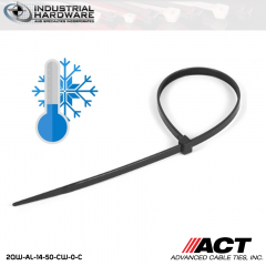 ACT AL-14-50-CW-0-C 14 in. Cold Weather Cable Ties Black 5000 Pcs/Case