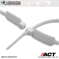 ACT AL-14-50-ID-9-C 14 in. Identification Cable Ties Natural 5000 Pcs/Case