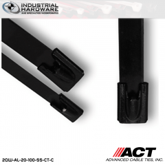 ACT AL-20-100-SS-CT-C 20 in. Stainless Steel Coated Cable Tie 1000 pcs/case