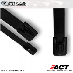 ACT AL-27-250-SS-CT-C 27 in. Stainless Steel Coated Cable Tie 1000 pcs/case