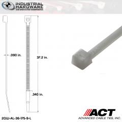 ACT AL-36-175-9-L Extra Heavy Duty 175LB.  36 in. 175lb Natural Ties (500 Pcs/Case)