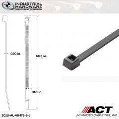ACT AL-48-175-8-L Extra Heavy Duty 175LB.  48 in. 175lb Gray Ties (500 Pcs/Case)