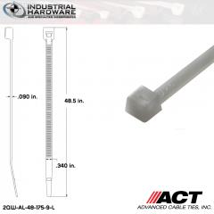 ACT AL-48-175-9-L Extra Heavy Duty 175LB.  48 in. 175lb Natural Ties (500 Pcs/Case)
